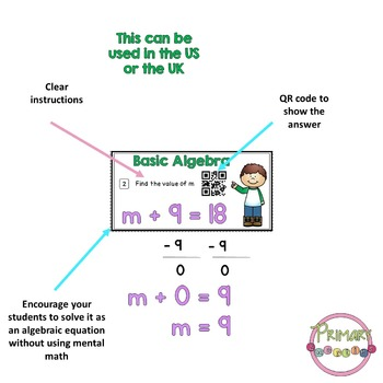 Basic Algebra Task Cards