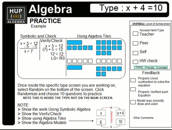 Basic Algebra Using Free iPad App