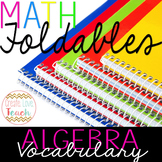 Basic Algebra Vocabulary Foldable
