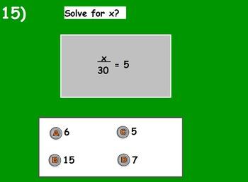 Basic Math Skills -Basic Algebra and Geometry (worksheet included) (SMART BOARD)