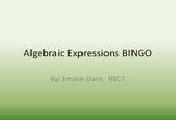 Basic Algebraic Expressions Bingo