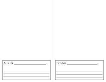 Alphabet Book Template Teaching Resources | Teachers Pay Teachers