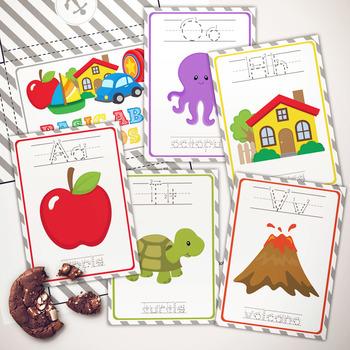 Basic Alphabet Learning Cards