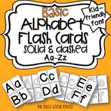 Basic Alphabet Letter Flash Cards: For traditional & onlin