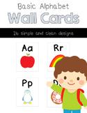 Basic Alphabet Wall Cards