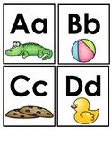 Basic Alphabet Word Cards with Clipart
