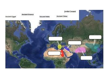 Basic Ancient Civilizations Map Quiz