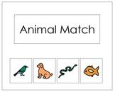 Basic Animal Matching File Folder Game