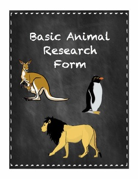 Basic Animal Research Form