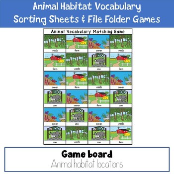 Animal Habitat Vocabulary Practice