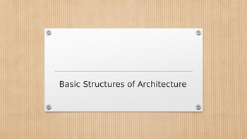 Basic Architectural Structures Vocabulary PPT