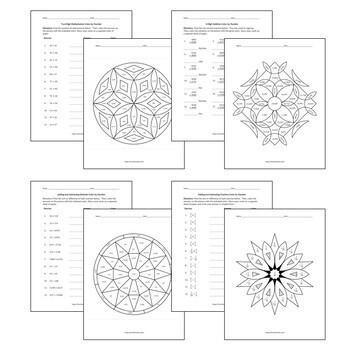 Basic Arithmetic Color by Number Bundle: 10 Essential Skills