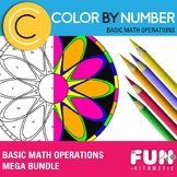 Basic Math Operations Color by Number Bundle: Essential Skills