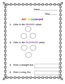Basic Art Assessment- Littles