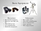 Basic Astronomy Equipment (telescopes, Observing sky) PPT