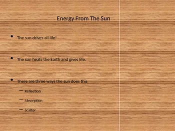 Basic Atmosphere and Sun Energy Powerpoint