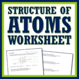 Basic Atomic Composition Atom Drawing Worksheet Activity NGSS MS-PS1-1