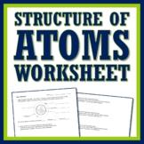 Atomic Composition Atoms Worksheet Protons Neutrons Electr