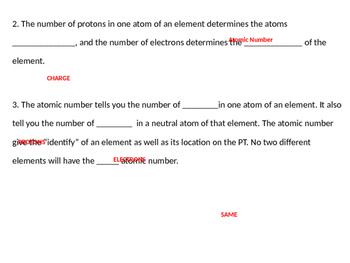 Basic Atomic Structure