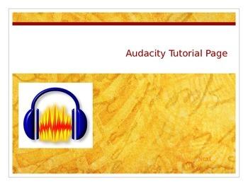 Basic Audacity Tutorial PowerPoint