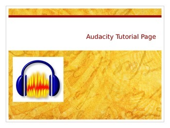 Basic Audacity Tutorial PowerPoint