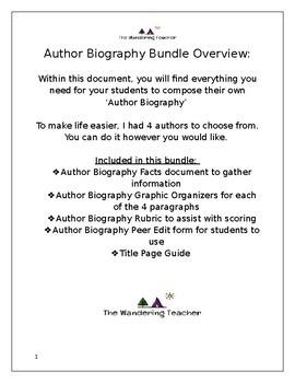 Basic Author Biography