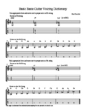 Basic Basie Guitar Voicing Dictionary
