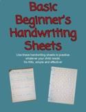 Basic Beginner's Handwriting Sheets