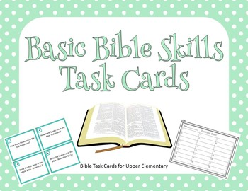Basic Bible Skills Task Cards