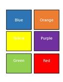 Basic Bilingual Colours Flashcards - English