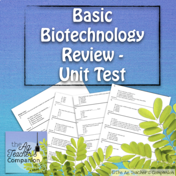 Basic Biotech Review Test