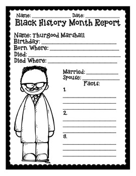 Basic Black History Month Reports