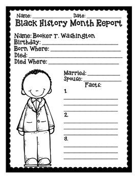 Basic Black History Month Reports