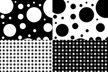 Digital Background Papers - Black and White
