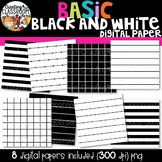 Basic Black and White Digital Paper {Sellers Clipart}