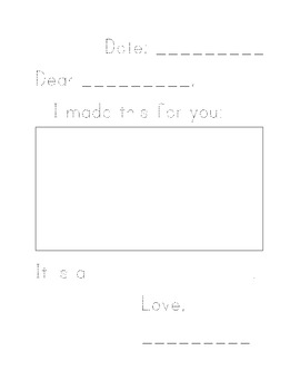 Basic Blank Letter Form with Illustration Space