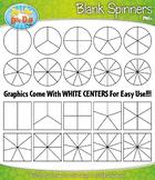 Basic Blank Spinners Clipart {Zip-A-Dee-Doo-Dah Designs}