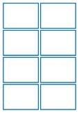Basic Blue flashcard Template