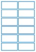Basic Blue flashcard Template