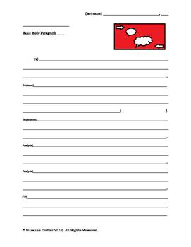 Basic Body Paragraph Draft Form