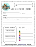 Book Report Worksheet - Fiction