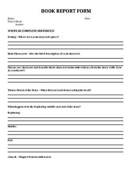 Basic Book report