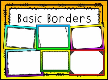 Basic Border Backgrounds Cover Pages
