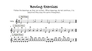 Basic Bowing Exercises for Beginning Orchestra