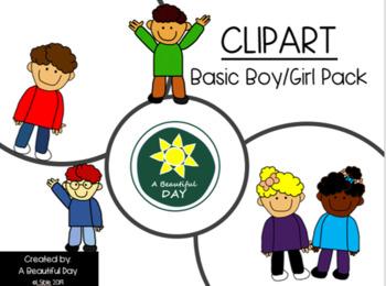 Basic Boy/Girl Clipart Pack FREEBIE