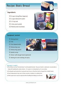 Basic Bread Recipe:Visual photo sequence