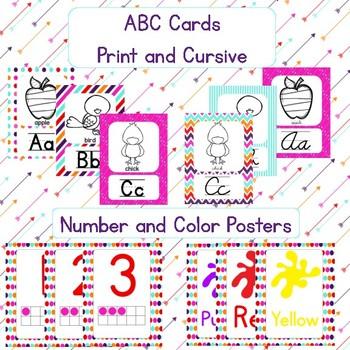 Basic & Bright Themed Classroom Decor Bundle