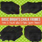 Basic Brights Chalk Digital Frames