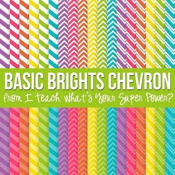 Basic Brights Chevron Paper Pack