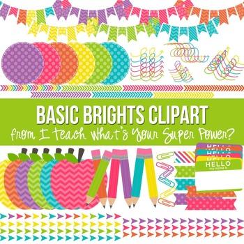 Basic Brights Clipart Set